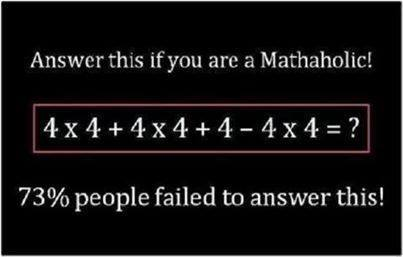 Order of Operations in Maths