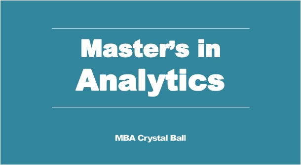 Masters in Data Science and Analytics in USA - MBA Crystal Ball