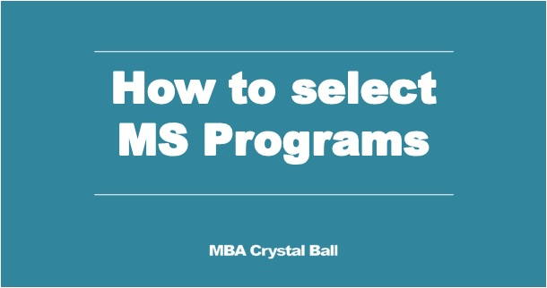How to select the right MS Masters degree