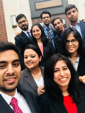 Indian students at Simon MBA Rochester